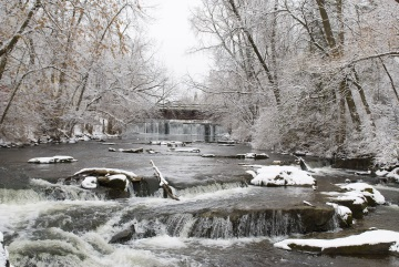 cedar creek in winter