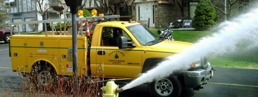 Water utility hydrant flushing