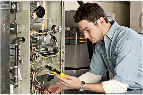 furnace maintenance guy